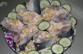 Фаршированная сельдь (пошаговый фото рецепт)