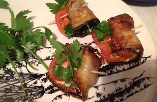 Закуска из баклажан с помидором (пошаговый фото рецепт)