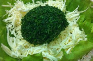 Салат с плавленным сыром и чесноком (пошаговый фото рецепт)