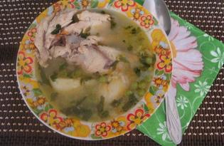 Летний суп с горошком и курицей (пошаговый фото рецепт)