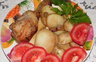 Куриные голени с картофелем в соевом соусе (пошаговый фото рецепт)