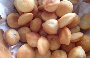 Казахские баурсаки на молоке (пошаговый фото рецепт)