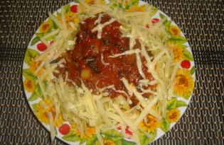 Спагетти с томатной пастой в мультиварке (пошаговый фото рецепт)