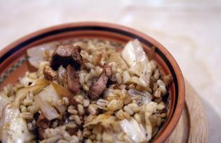 Грудинка с капустой и перловкой (пошаговый фото рецепт)
