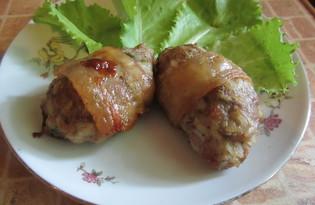 Куриные котлеты в сале (пошаговый фото рецепт)