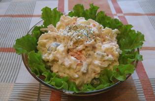 """Салат из кальмаров """"Праздничный"""" (пошаговый фото рецепт)"""