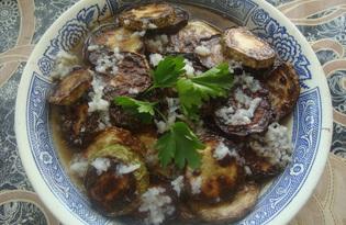Жареные кабачки с заправкой из чеснока и уксуса (пошаговый фото рецепт)
