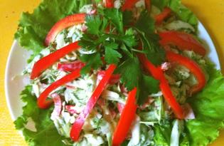 Простой овощной салат (пошаговый фото рецепт)
