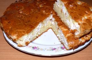 Простой рыбный пирог (пошаговый фото рецепт)