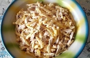 """Салат с курицей и ананасом """"Нежность"""" (пошаговый фото рецепт)"""