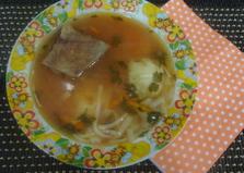 Томатный суп с ребрышками в мультиварке (пошаговый фото рецепт)