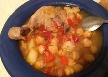 Суп из нута на курином бульоне (пошаговый фото рецепт)