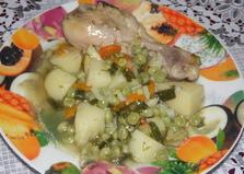 Соус с куриными голенями и зеленым горошком (пошаговый фото рецепт)