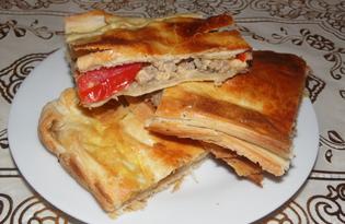 Ленивая слоеная лазанья (пошаговый фото рецепт)