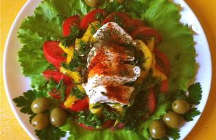 """Греческий салат """"Хориатика"""" (пошаговый фото рецепт)"""