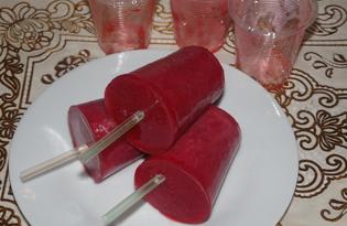 Клубничный фруктовый лед (пошаговый фото рецепт)