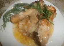Куриные голени под соусом в духовке (пошаговый фото рецепт)