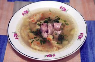 Суп куриный с клёцками из манки (пошаговый фото рецепт)