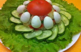 """Салат из сельди и картофеля """"Керченский"""" (пошаговый фото рецепт)"""