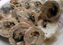 Мясные рулетики с грибами и зеленью (пошаговый фото рецепт)