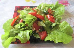 Салат из помидоров с маслом из виноградных косточек (пошаговый фото рецепт)