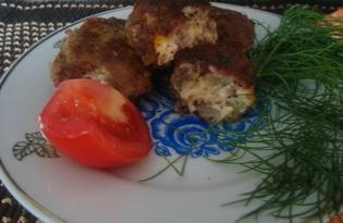Биточки мясные с сыром (пошаговый фото рецепт)