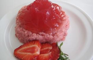 Клубничный десерт (пошаговый фото рецепт)
