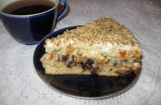 """Торт с финиками, черносливом и курагой """"Сюрприз"""" (пошаговый фото рецепт)"""
