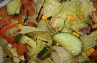 Овощной салат с бальзамическим уксусом и медом (пошаговый фото рецепт)