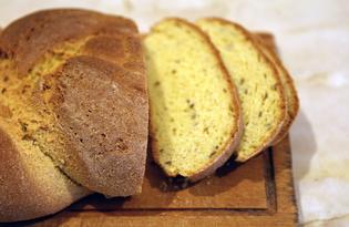Хлеб - косичка с кукурузной мукой (пошаговый фото рецепт)