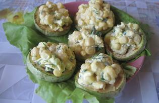 Закуска из жареных кабачков с кукурузой (пошаговый фото рецепт)