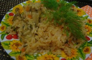 Рис с курицей и овощами в мультиварке (пошаговый фото рецепт)