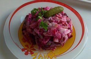 Салат с копченной курицей и свеклой (пошаговый фото рецепт)