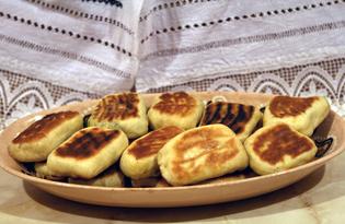 Пирожки с творогом и зеленью (пошаговый фото рецепт)