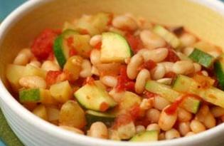 Фасоль с кабачком и перцем (пошаговый фото рецепт)