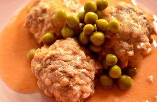 Мясные тефтели в томатном соусе (пошаговый фото рецепт)