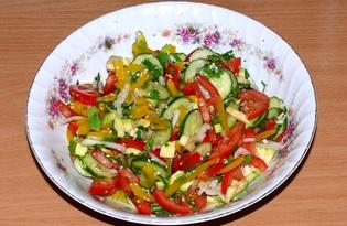 Салат «Разноцветный» (пошаговый фото рецепт)