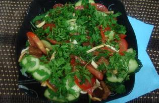 Овощной салат с сухариками (пошаговый фото рецепт)