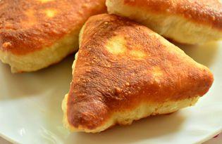 Беляши - треугольники с куриным фаршем (пошаговый фото рецепт)