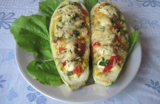 Запечённые кабачки с сыром и помидорами (пошаговый фото рецепт)