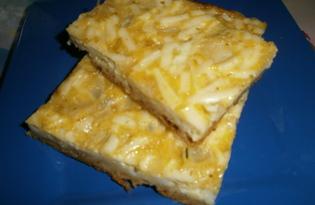 Пирог с начинкой из плавленного сырка (пошаговый фото рецепт)