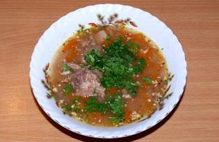 Харчо из баранины с грецкими орехами (пошаговый фото рецепт)