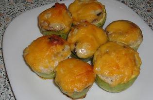 Кабачки фаршированные грибами с курицей (пошаговый фото рецепт)