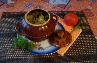 Картофель с грибами в горшочке (пошаговый фото рецепт)