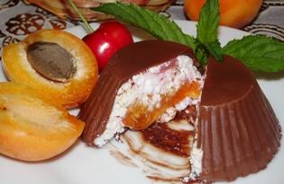 Шоколадные сырки с абрикосом (пошаговый фото рецепт)