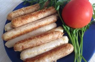 Домашние куриные сосиски (пошаговый фото рецепт)
