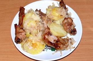 Кролик, запечённый с картофелем (пошаговый фото рецепт)