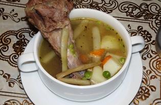 Говяжий суп с молодой фасолью и горошком (пошаговый фото рецепт)