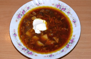 Суп из сушёных грибов с перловкой (пошаговый фото рецепт)