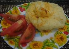 """Горячая закуска с грибами и колбасой """"Мешочек с сюрпризом"""" (пошаговый фото рецепт)"""